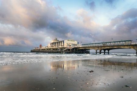 bournemouth: The pier at Bournemouth in Dorset Stock Photo