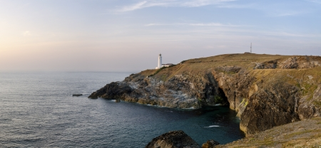 The lighthouse at Trevose Head on Cornwall photo