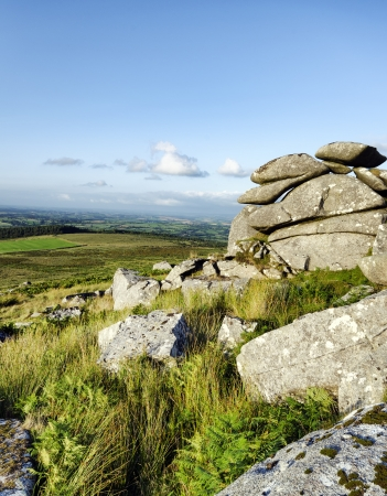 bodmin: At the top of Kilmar Tor on Bodmin Moor in Cornwall Stock Photo