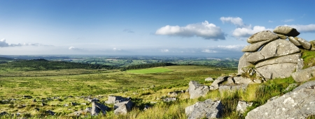 bodmin: The view from Kilmar Tor high up on Bodmin moor in Cornwall Stock Photo
