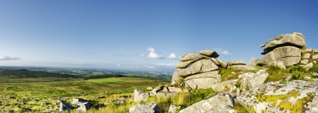 bodmin: The view across Bodmin Moor from Kilmar Tor Stock Photo