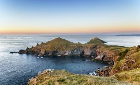 headland: The Rumps on the Pentire headland on Cornwall Stock Photo