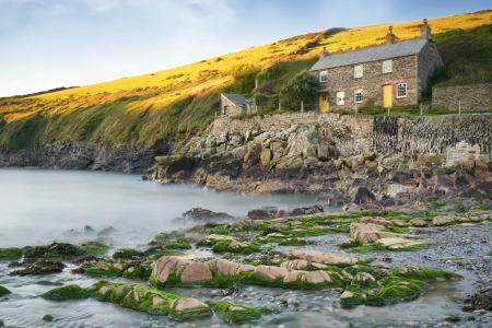 quin: The cove at Port Quin a tiny fishing village on the north Cornwall coast