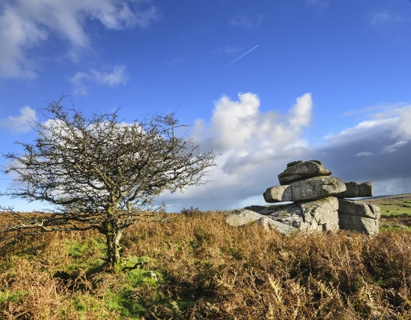 bodmin: Carbilly Tor high up on Bodmin Moor in Cornwall