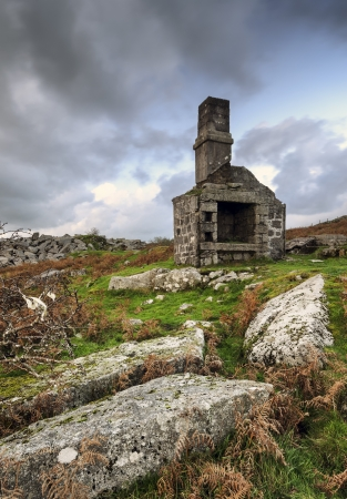 bodmin: Ruined quarry building at dsuk on Bodmin Moor in Cornwall