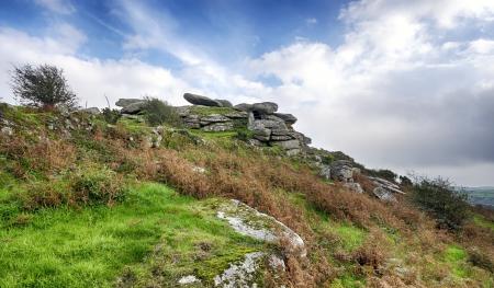 bodmin: Helman Tor a craggy granite outcrop near Bodmin in Cornwall