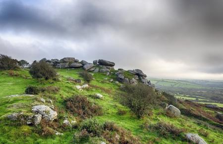 Helman Tor a craggy granite outcrop near Bodmin in Cornwall Stock Photo - 23341046