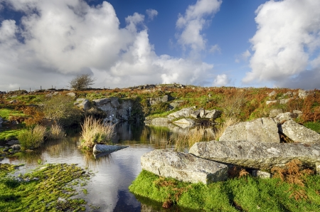 bodmin: Carbilly Quarry on Bodmin Moor in Cornwall