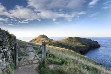 The South West Coast path at The Rumps on the Atlantic Coast of Cornwall