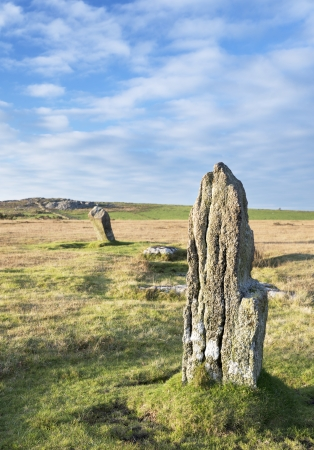 bodmin: The Trippet Stone Circle at Blissland common on Bodmin Moor in Cornwall