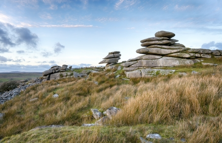 bodmin: A granite tor at Stowes Hill on Bodmin Moor in Cornwall Stock Photo