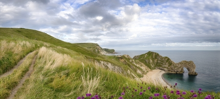 Durdle Door a natural rock arch on the Jurassic Coast of Dorset
