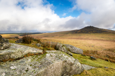 bodmin: Looking out towards Rough Tor also known as Roughtor on Bodmin Moor in Cornwall