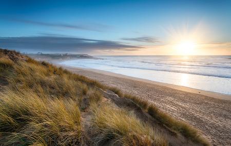 Constantine Bay on the Atlantic coast of Cornwall Фото со стока