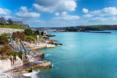 plymouth: On the Hoe at Plymouth in Devon Stock Photo