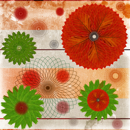 Deorative card or abstract background with floral leaf patterns