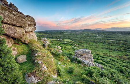 bodmin: Rugged moors at Helman Tor near Bodmin in Cornwall Stock Photo