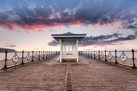 The pier at Swanage on the Dorset coast photo