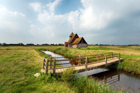 The church at Fairfield on Romney Marsh in the Kent countryside Stock Photo