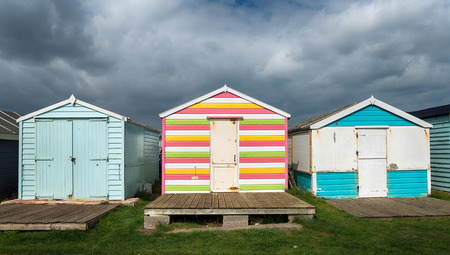 unloved: Colourful beach huts at St Leonards on Sea in Hastings, East Sussex