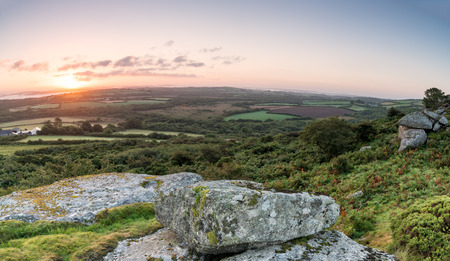 bodmin: The view form Helman Tor near Bodmin in Cornwall