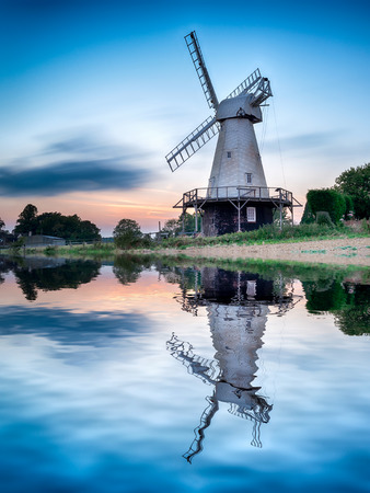 kent: A long exposure of Woodchurch Windmill in the Kent countryside