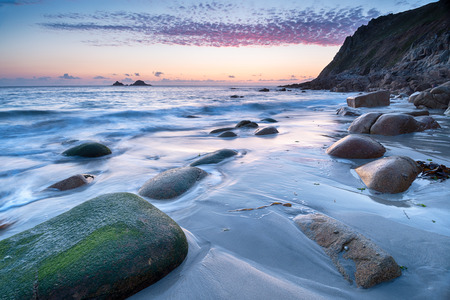 Porth Nanven beach near Lands End in Cornwall photo