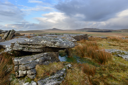 willy: Bodmin Moor in Cornwall looking out towards Roughtor and Brown Willy from Alex Tor