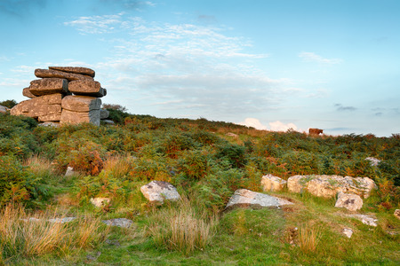 bodmin: Carbilly Tor on Bodmin Moor in Cornwall Stock Photo