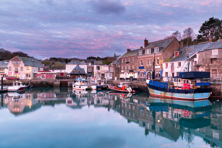 Dawn at the harbour in Padstow an historic fishng town on the north Cornwall coast
