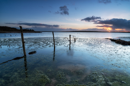 bodmin: Sunset at Colliford Lake on Bodmin Moor in Cornwall Stock Photo