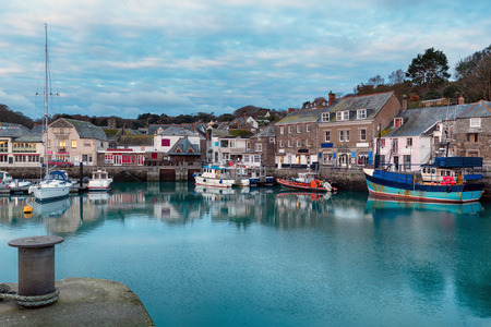 Early morning at Padstow harbour a small fishing port in Cornwall