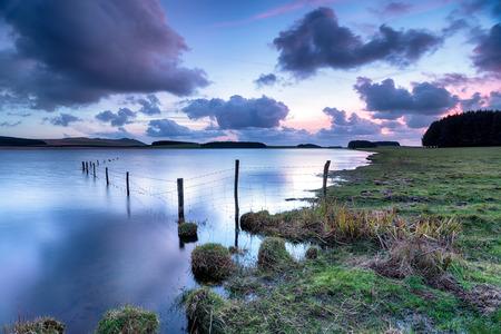 bodmin: Dusk at the Crowdy Reservoir near Davidstow on Bodmin Moor in Cornwall