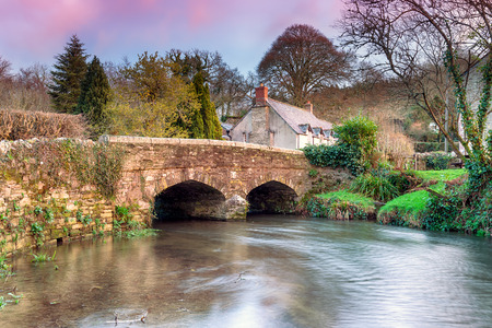 A bridge over the river Lerryn at Couch's Mill near Lostwithiel in Cornwall Banco de Imagens - 35369458