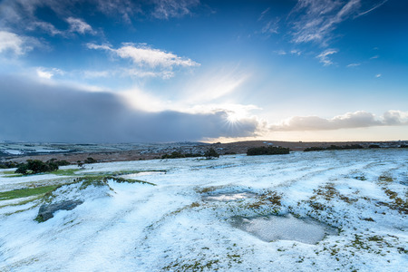 bodmin: Snow on Bodmin Moor in Cornwall