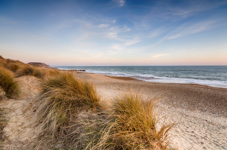 hengistbury: Snd dunes at Hengistbury Head beach near Christchurch in Dorset Stock Photo