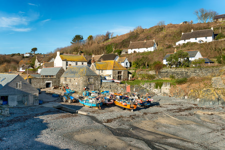 Cadgwith a small picturesque fishing village on the Lizard peninsula in Cornwall photo