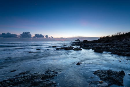 night time: Night time at Wembury beach on the south coast of Devon