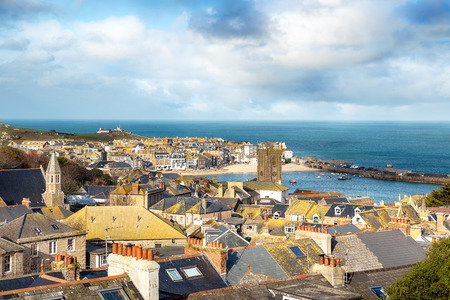 seaside town: The pretty seaside town of St Ives in Cornwall