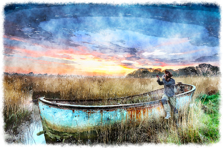 harbour: Rusty shipwrecked boat in Poole Harbour in Dorset