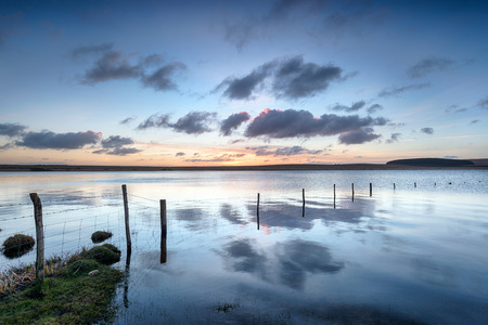 bodmin: Dawn at the Crowdy Reservoir on Bodmin Moor in Cornwall