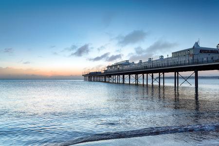 Dawn at the pier at Paington on the south coast of Devon Stock fotó