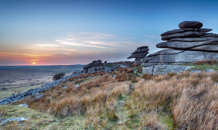 bodmin: Granite rock formations on Stowes Hill near Minions on Bodmin Moor in Cornwall