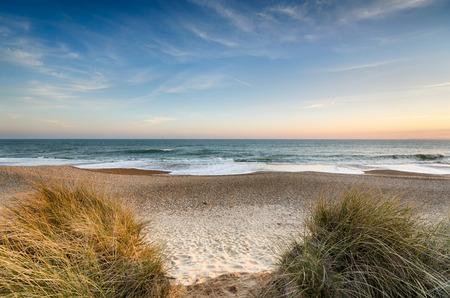 Het strand bij Hengistbury Head in de buurt van Christchurch in Dorset
