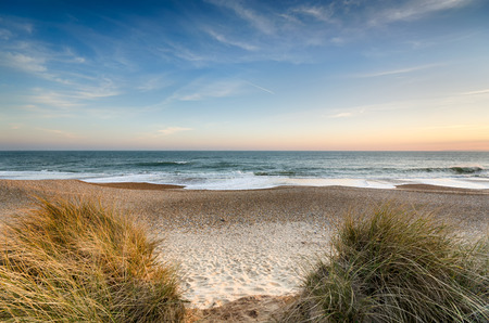 hengistbury: The beach at Hengistbury Head near christchurch in Dorset