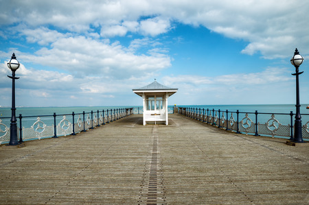 seaside: A victorian seaside pier at Swanage in Dorset Stock Photo