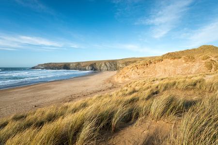 sand dunes: Sand dunes at Holywell bay in Cornwall