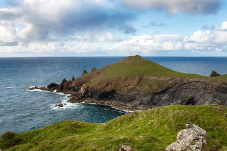 headland: The Rumps a headland on the north coast of Cornwall