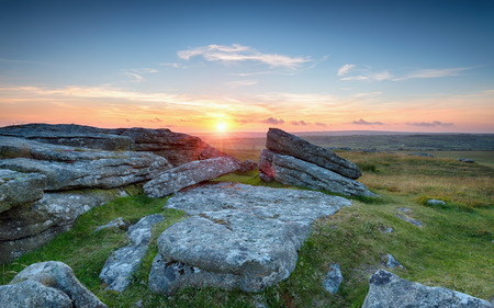 bodmin: Sunset over Bodmin Moor in Cornwall