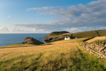 quin: The north Cornwall coast above Port Quin looking at Doyden Point Stock Photo